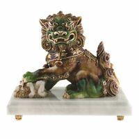 Jay Strongwater Yin Foo Dog Figurine14K gold Swarovski  SDH1899-253