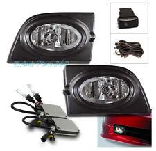 06 07 08 HONDA CIVIC 4DR JDM BUMPER DRIVING FOG LIGHTS LAMP+6000K HID KIT+SWITCH