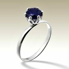 Sterling Silver Purple CZ Design Stackable Ring Size 7 US N AU