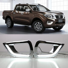 For Nissan Navara NP300 2015-up White LED daytime running lights DRL Fog lamp 2x
