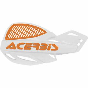 Acerbis Uniko Vented Handguards White/Orange