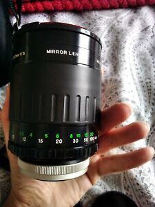 Vivita Macro Focusing 500mm f/8 mirror lens great condition case and filters
