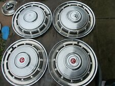 "GENTLY USED 1965 AMC RAMBLER  14 "" WHEELCOVER SET/FOUR CLEAN/NICE HARD TO FIND !"