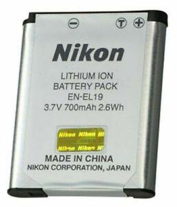 Genuine Nikon EN-EL19 Rechargeable Li-ion Battery Pack for Coolpix ENEL19 (NEW)