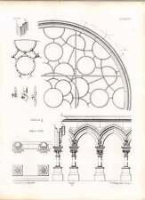 Gothic DIJON Notre Dame circolare vetro finestra MODANATURE dettaglio FERRO LAVORO