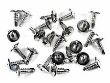 "Ford Truck Chrome Self Tap #8 x 1/2"" Washer Head Trim Screws- 25 pcs- #230"
