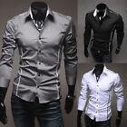 2016 New Fashion Mens Luxury Long Sleeve Casual Slim Fit Stylish Dress Shirts