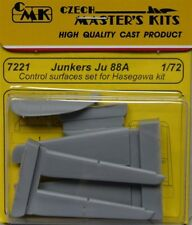CMK 1/72 Junkers Ju88 Control Surfaces set pour Hasegawa # 7221