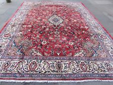 Old Hand Made Traditional Vintage Rugs Oriental Wool Red Large Carpet 386x300cm