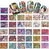 44pcs Nail Art Water Transfer Stickers Wraps Foils Decals Tips Manicure.