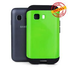 Funda Samsung Galaxy Young 2 G130 antigolpes slim armor tipo Spigen verde