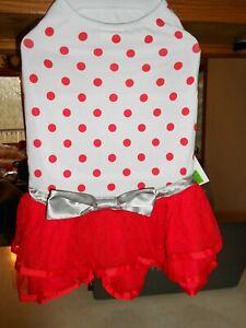 Martha Stewart's Pet Red Polka Dot Dog Dress Size Large