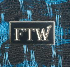 FTW Retro Biker Pin Pins Harley Davidson Motorcycle Americana Dilligaf acab 1%