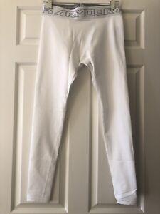 Under Armour Men's ColdGear White Compression Leggings Size Large