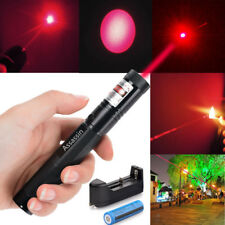 Red Laser Pointer 1mW 650nm Lazer Pen 600Miles Beam Light+18650 Battery+Charger