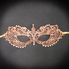 Lace Masquerade Mask, RHINESTONES LACE Mask for Women LM0601 Rose Gold