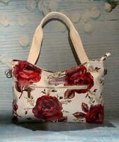 Cath Kidston Zipped Handbag Jacquard Rose -  Gift - SALE