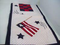 "51"" x 14"" Hand Made Patriotic Americana US Flag Table Runner"