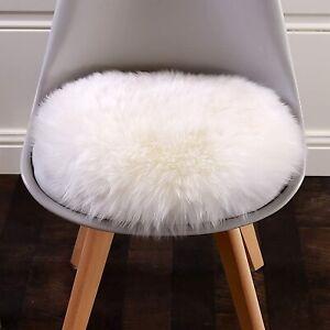 Faux Sheepskin Fur Rug, Fleece Chair Seat Pad Soft Fluffy Shaggy Area Rug, 60cm