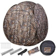 2-Person Portable Camo Pop-Up Ground Hunting Blind Outdoor Camping Hiking Tent
