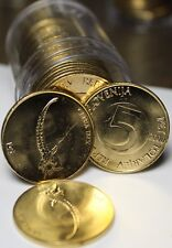 Gem Unc Roll (20) Slovenia 2000 5 Tolarjev Coins~Head & Horns Of A IBEX~Fr/Ship