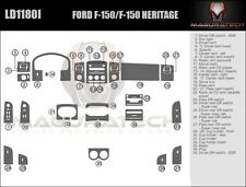 Fits Ford F150 2004-2008 With Column Shifter Large Wood Dash Trim Kit
