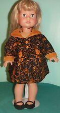 Black & Orange Filigree Halloween Dress for American Girl Doll AGHH48