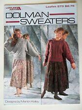 Dolman Sweaters to Knit Leisure Arts 573 1987 Pattern Booklet