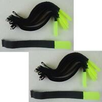 20 Stück Kabel-Klettband 20cm x 20mm neongelb Metallöse Kabelklett Kabelbinder