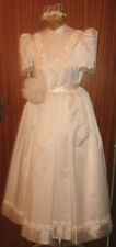 Abito Da Comunione/Damigella/Tg.42/Donna Italy/Anni '80/Young Lady Dress Wedding