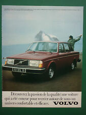 7/1979 PUB AUTOMOBILE VOLVO 244 GL 11CV VOITURE CAR ORIGINAL FRENCH AD