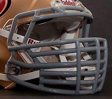 *CUSTOM* SAN FRANCISCO 49ers Riddell SPEED Football Helmet Facemask - GRAY