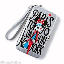 Disney Minnie Mouse iPhone Wristlet Around the World Glitter Smartphone Hardcase