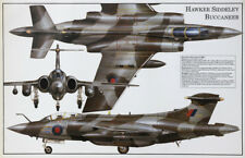Hawker Siddeley Blackburn Buccaneer British RAF Strike Bomber airplane poster