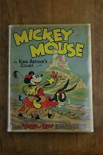 Vintage Mickey Mouse in King Arthur's Court Pop-Up Book Early Disney 1933