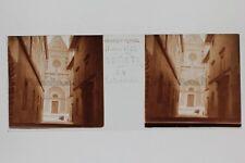 Orvieto Cathédrale N1 Italie Italia Plaque de verre stereo Vintage 1938