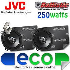 Renault Modus Jvc 13cm 500 Watts 2 Vías De Puerta Frontal altavoces del coche y sonido de amortiguamiento