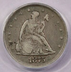 1875-P 1875 Seated Liberty Twenty Cent 20c ICG F12
