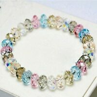 Girl Jewelry Faceted Women Bracelet Stretch Bangle Loose Beads Crystal