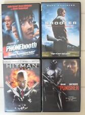 Shooter Hitman Punisher Phonebooth 4 DVD Lot Travolta Wahlberg Whitaker Ferrell