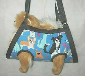 """SAVE MONEY DIY:""""HAPPY PUPS"""" PRINT PET NAIL GROOMING SLING CARRIER FOR SMALL PETS"""