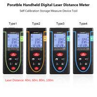 40/60/80/100M LCD Laser Misuratore Distanza Metro Distanziometro Rangefinder
