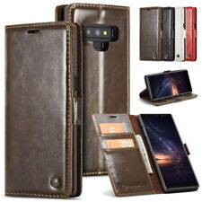 Real Leather Wallet Case Cover Card Holder Flip Stand For Samsung Note 9 8