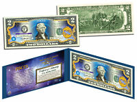 PISCES * Horoscope Zodiac * Genuine Legal Tender Colorized U.S. $2 Bill