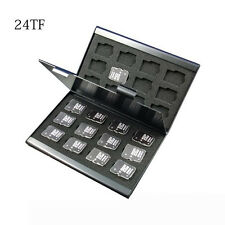 Newest Silver Aluminum Memory Card Storage Case Holder For Micro SD Card 24TF