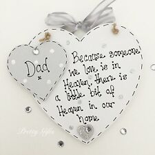 Personalised Because Someone We Love Is In Heaven Bereavement Heart Plaque