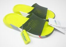 Crocs Lite Ride Relaxed Fit Slide Sandals in Army Green & White 205626