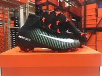 Nike Junior Mercurial SuperFly V FG Cleats (Black/White/Green) Size; 4.5 NEW!