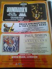 2012 Hyde Park London Advert A4 Poster Hard Rock Calling Soundgarden Springsteen
