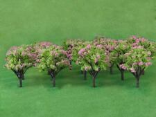 20 Model Peach Trees Pink Flower Train Railway Park Spring Scenery Layout HO
